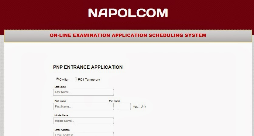 Napolcom Online Application System Oleass For April 2014