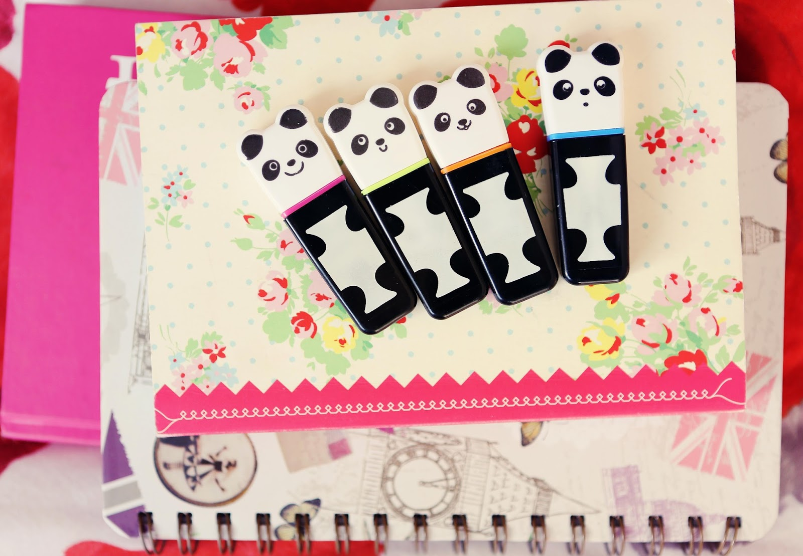 Paperchase Panda Highlighters