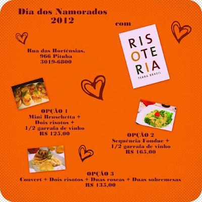 Sugestão para comemorar o Dia dos Namorados 2012: Risoteria Terra Brasil