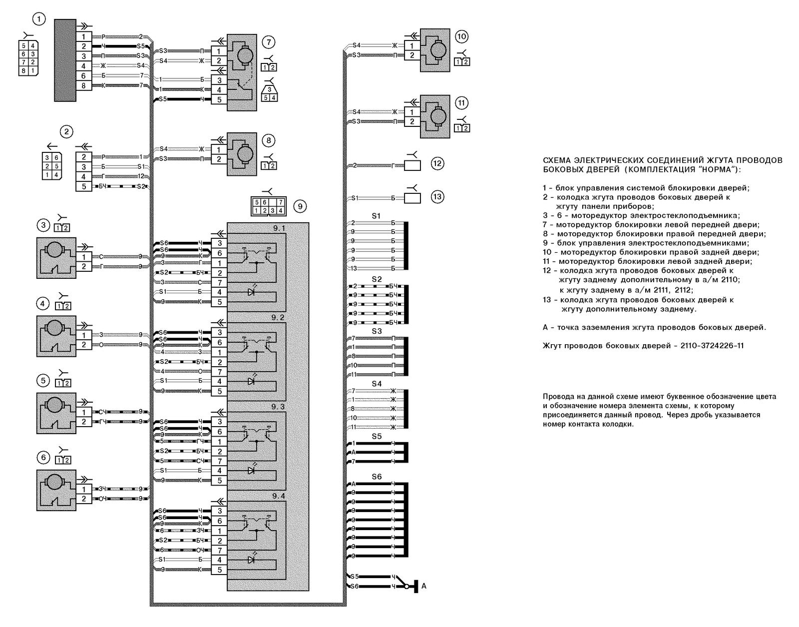 схема подключения противотуманных фар на ваз 21101