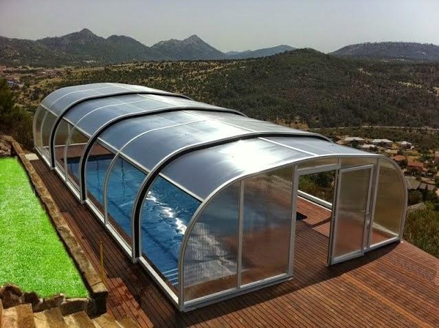 Cerramientos de piscinas en viviendas particulares for Piscina con cubierta
