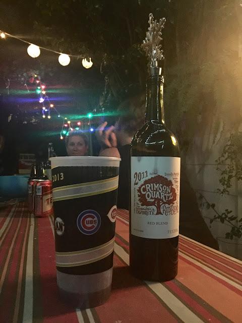 Crimson Quartz 2011 wine: fancy as fuck.
