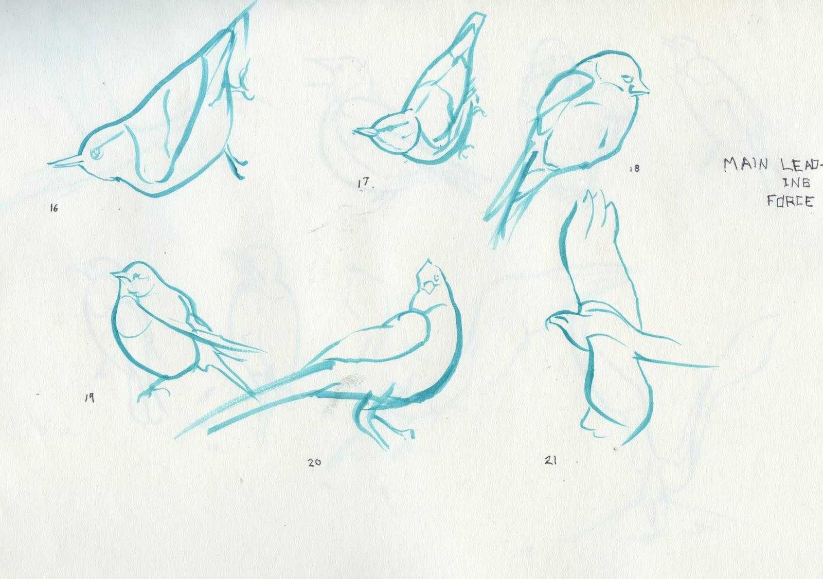 benlin alexander illustration gesture drawings