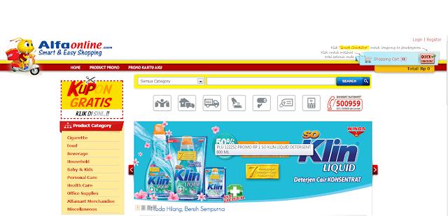 alfaonline.com  Toko belanja online murah, Promo heboh jual barang hanya Rp 1