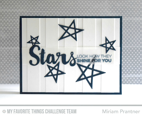 They Shine for You Card by Miriam Prantner featuring the Laina Lamb Design Count the Stars stamp set and Stars & Wishes and Lucky Stars Die-namics #mftstamps
