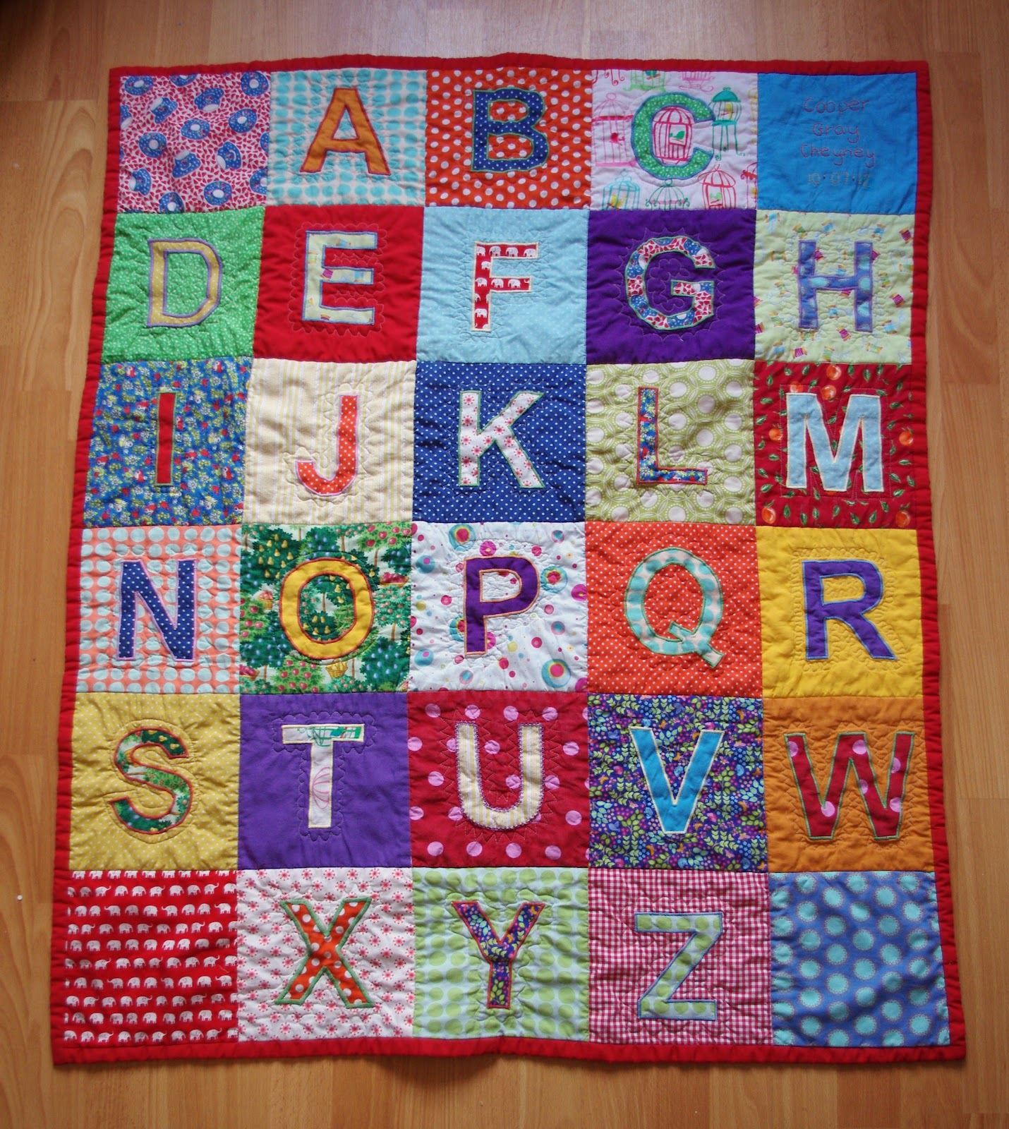 Quilt Block Patterns In Alphabetical Order : Stories in Stitch...: A quilt for Cooper...