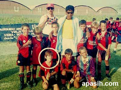 Messi bersama rekan-rekan satu timnya