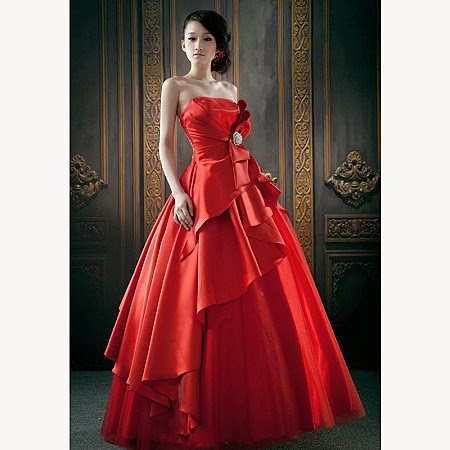 Beautiful red wedding dresses for women