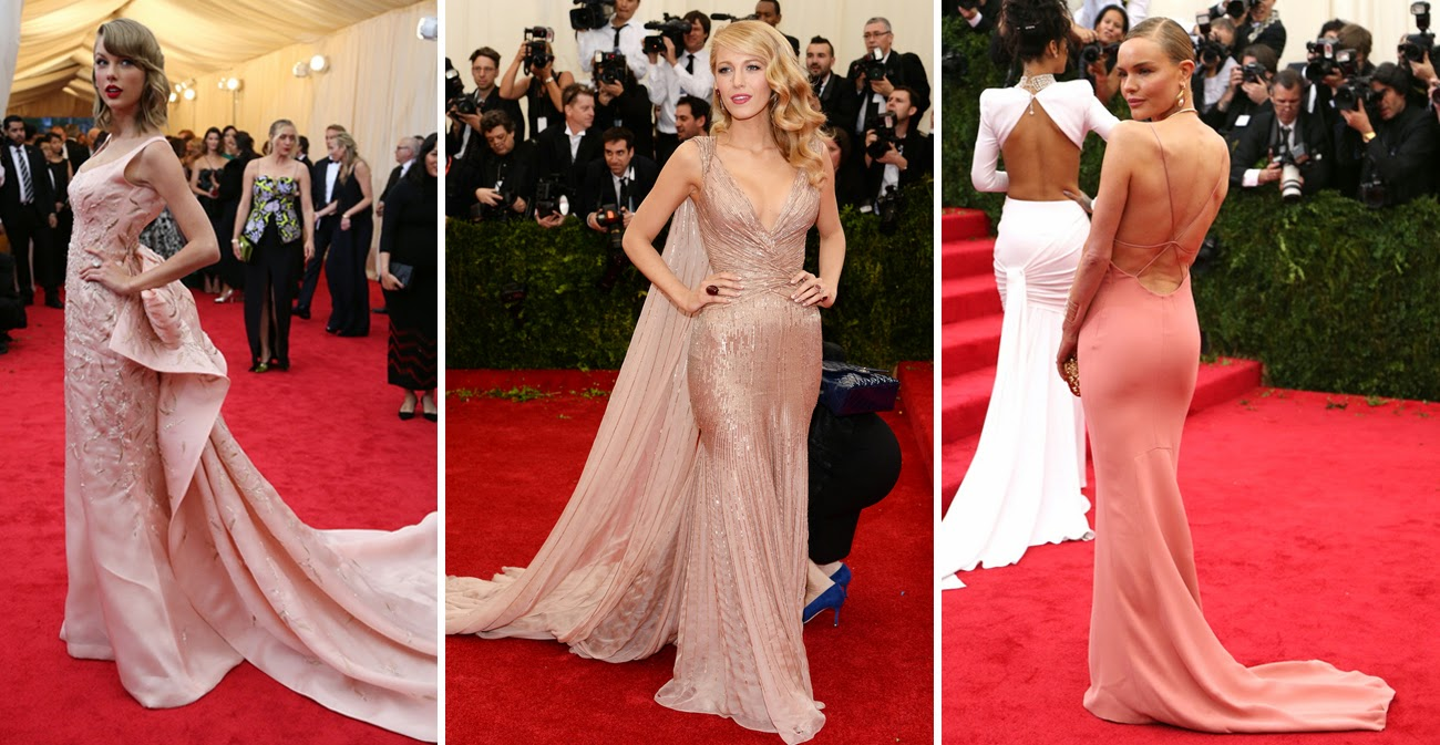 Met Gala 2014: Taylor Swift in Oscar de la Renta, Blake Lively in Gucci, Kate Bosworth in Stella McCartney