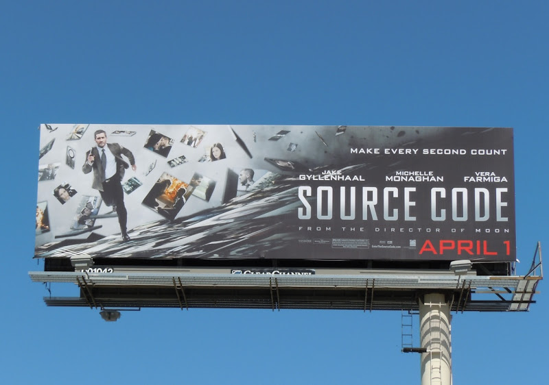 Source Code movie billboard