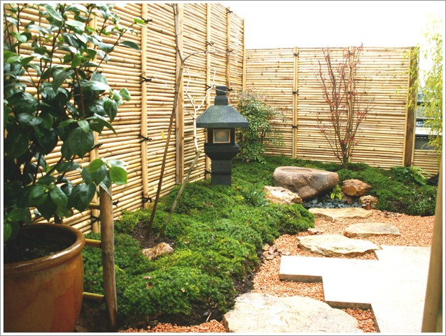 Lovely Home Garden Design With Japanese Style Garden