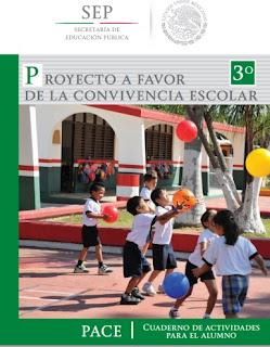 Imagen del Libro de Proyecto a Favor de la Convivencia Escolar (PACE).