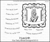 ODBD Stamp, Hyacinth