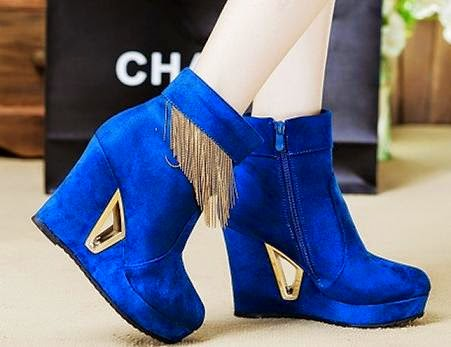 Fancy, Stylish and Elegant Blue High Heels for Women
