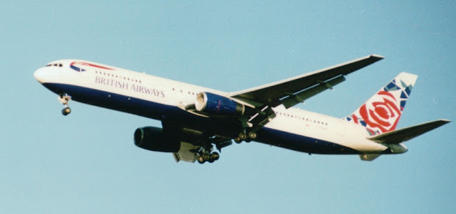 Boeing 767 of British Airways, special paint on tail