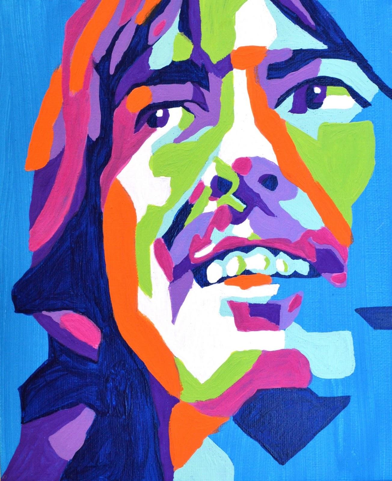 advanced art geometric beatles portrait paintings lessons from