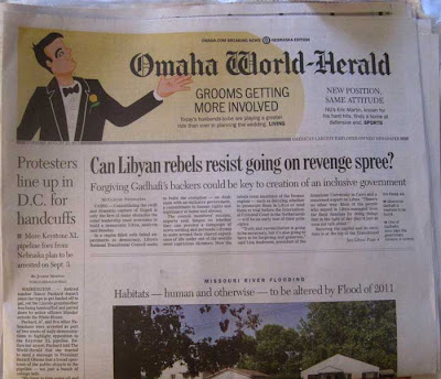 Front page of the Omaha World-Herald