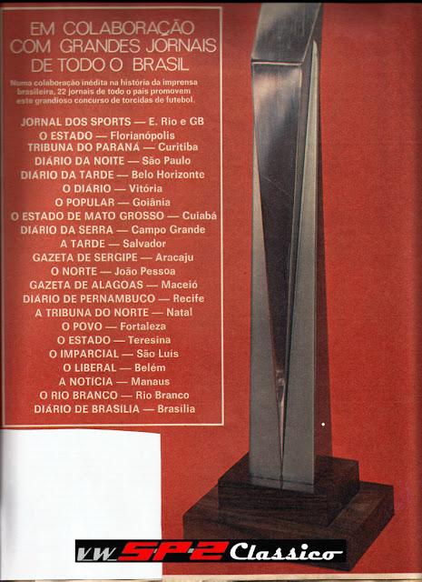 Promoção ganhe um SP1 - Revista Placar 1973
