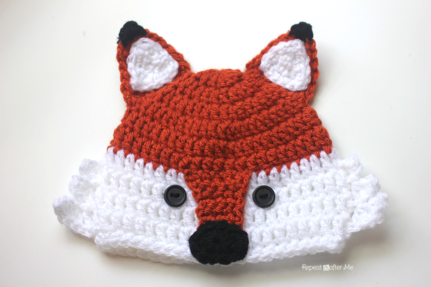 Free Crochet Fox Cowl Hat Pattern : Crochet Fox Hat - Repeat Crafter Me