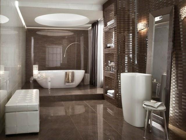 Modern bathroom tiles in neutral colors bathroom design for Bathroom designs neutral colors