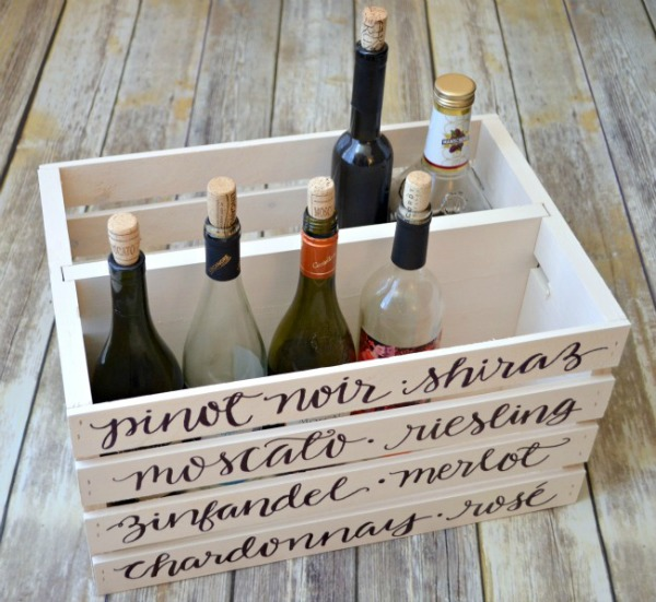 diy wine crate