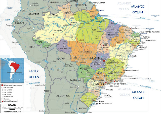 Brazil Map, Brazil Physical Map