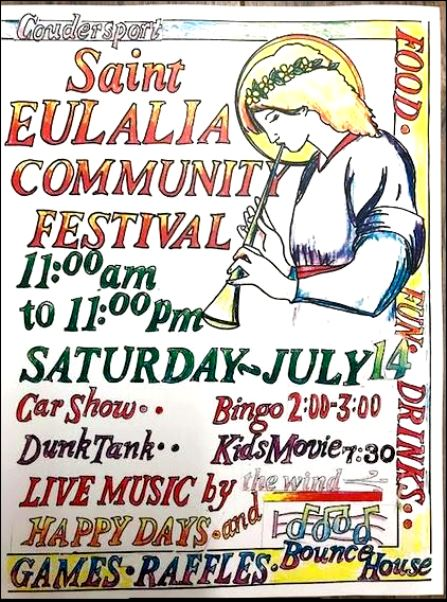7-14 St. Eulalia Community Festival, Coudersport