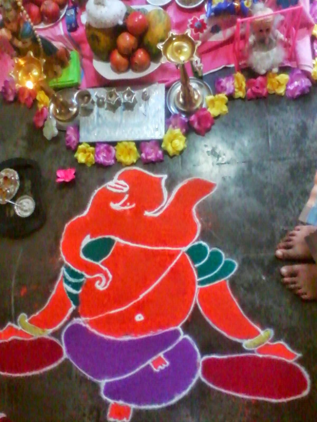 Ganesha Rangoli 19