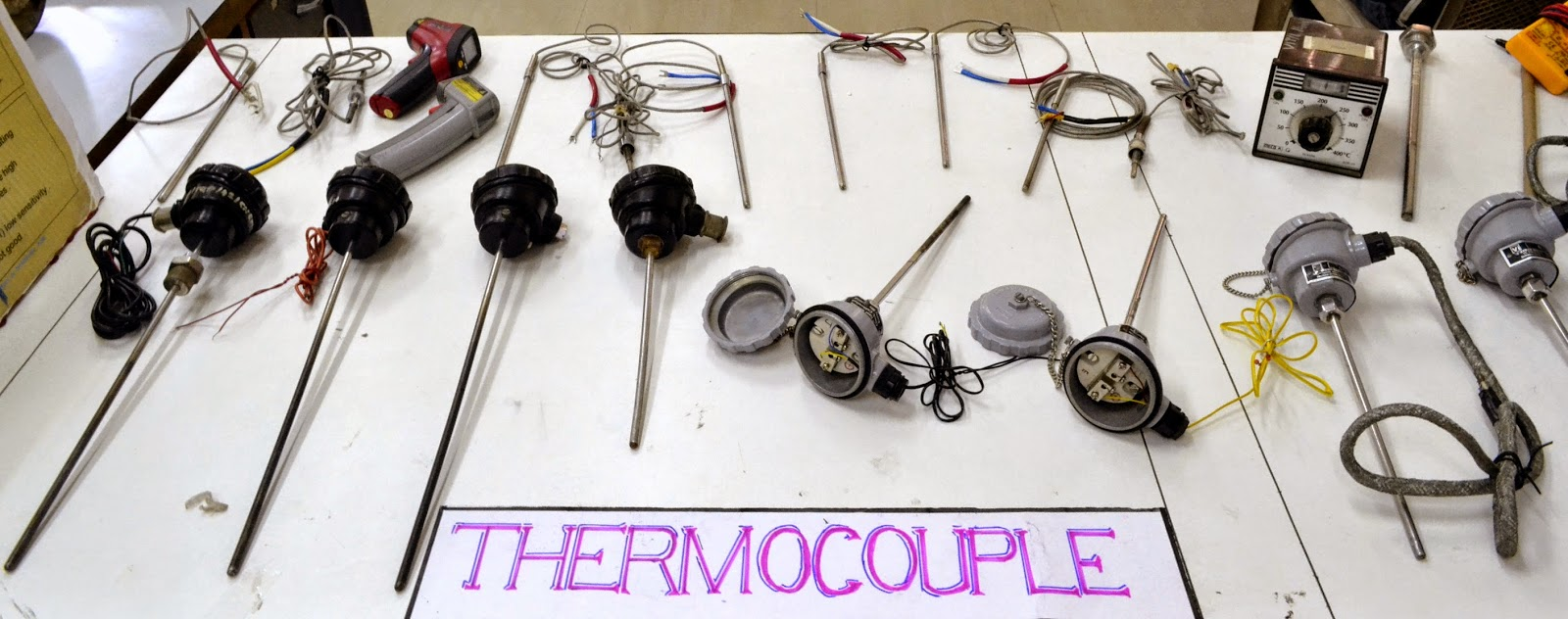Types of thermocouples