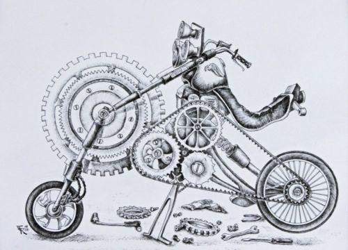 Motocicleta. / Motorrad.