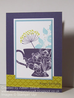 Stampin Ups Summer Silhouette flowers in a Tea Shoppe Cup