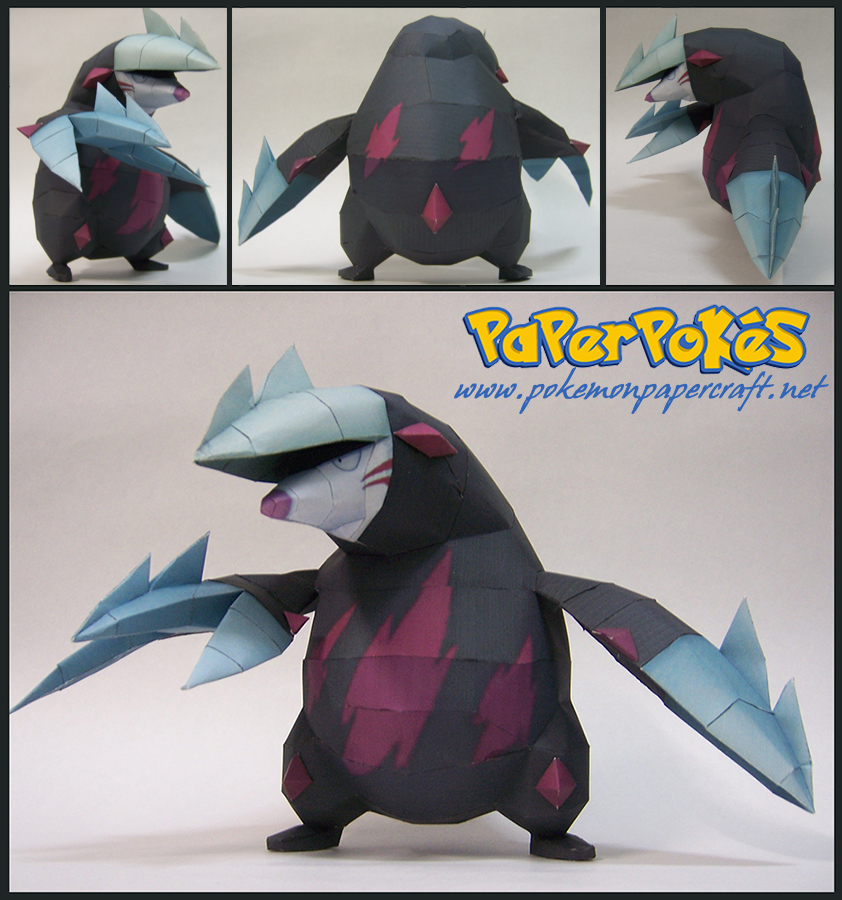 Pokemon Excadrill Paper Model