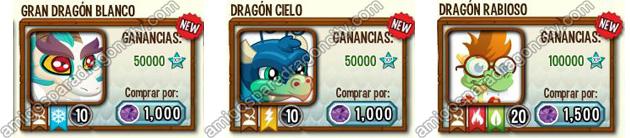 imagen de dragones unicos raros de tierra en dragon city