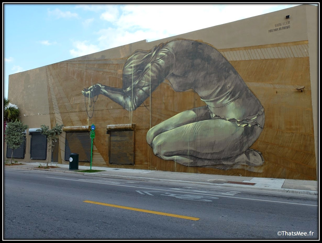 Faith 47 woman street artiste Empire of the sun, Wynwood walls Miami art Basel