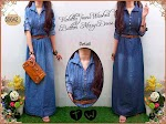 55642 Gamis Jeans Washed + Belt SOLD OUT
