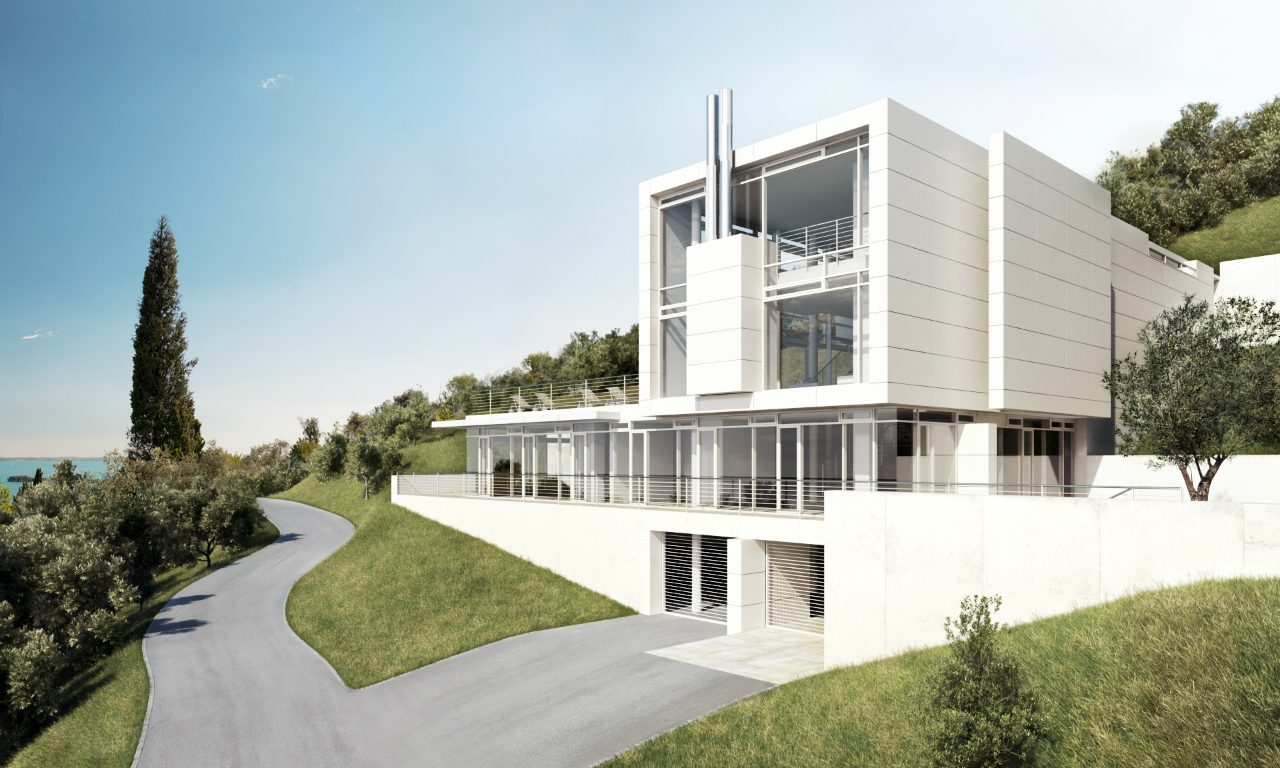 Architecture as aesthetics villa gardone richard meier for Villa architecture