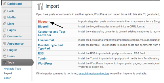 Blogger Importer WordPress Plugin
