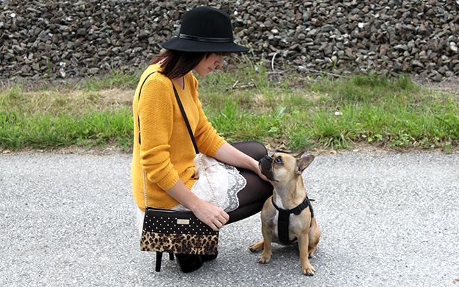 outfit trend fashionblogger senfgelb takko hm spitze highheels mango clutch leopard 04