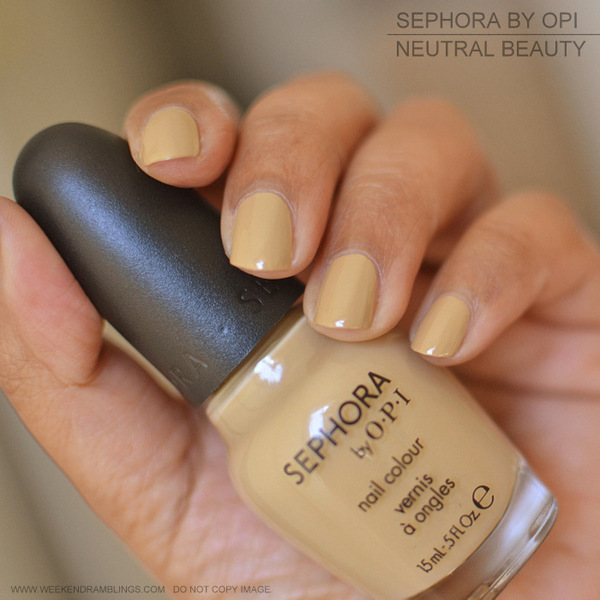 Sephora by OPI Nail Polish - Neutral Beauty - NOTD Photos Swatches Review
