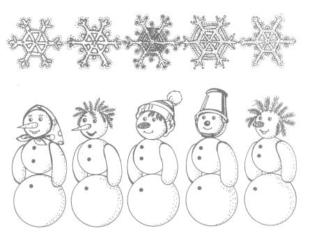 Картинки с заданиями для детей о зиме