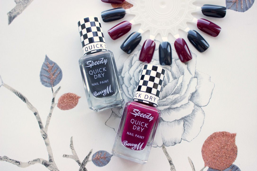 Barry M Speedy Quick Dry Autumn Nail Shades in Dragster and Sprint Finish