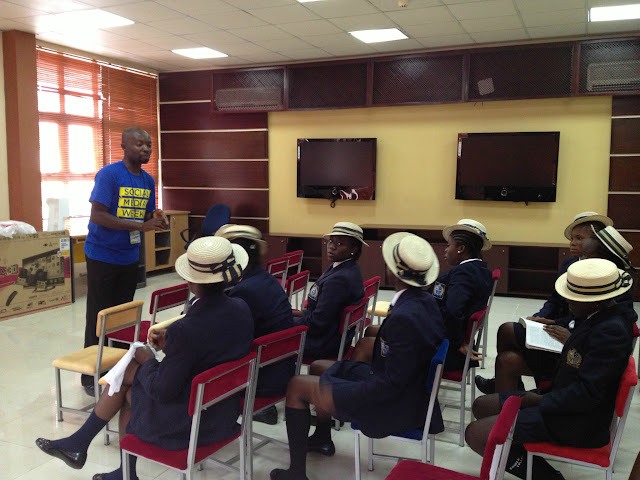 Students at the E-Learning Center visiting Social Media Week Lagos