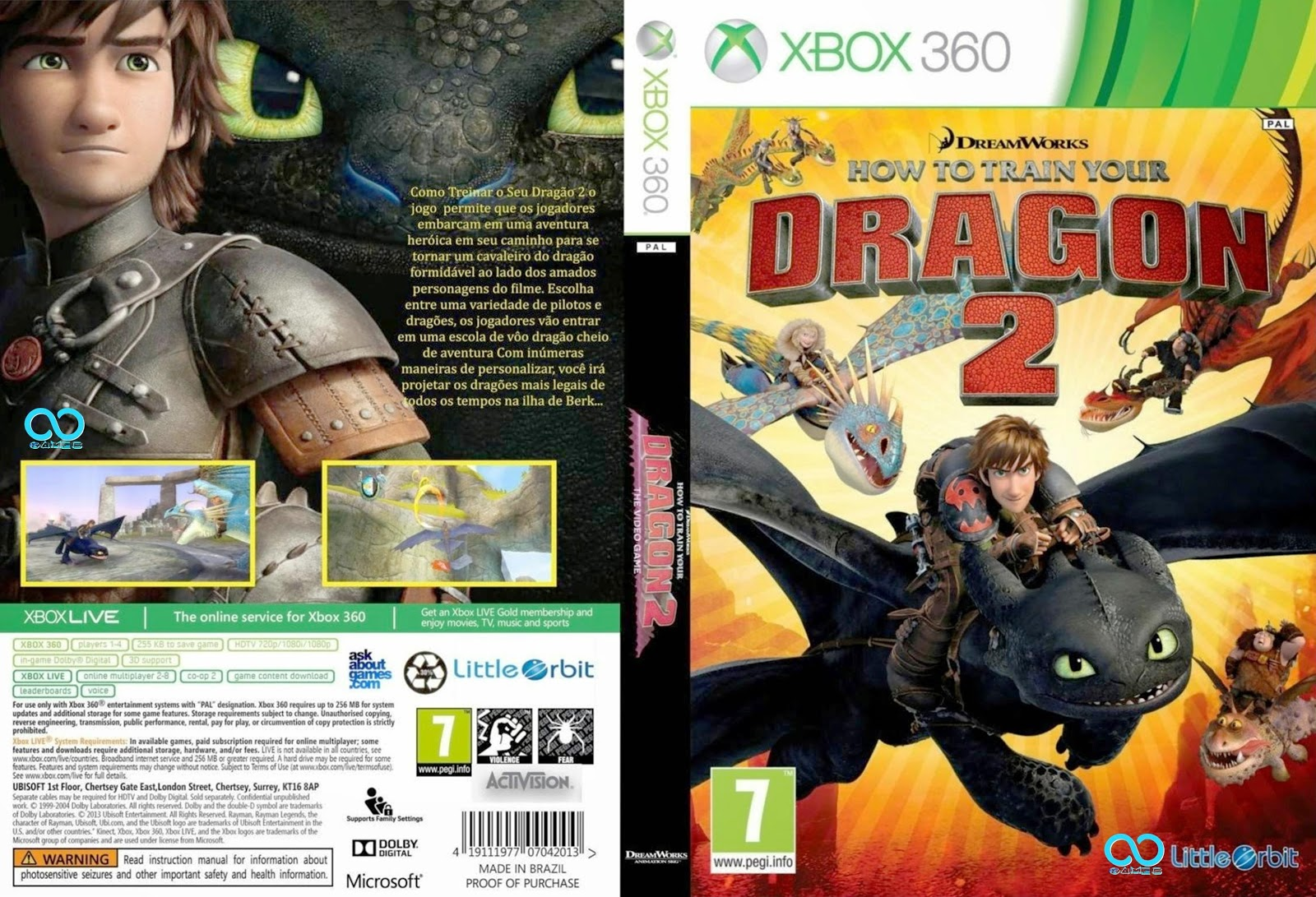 Capa How To Train Your Dragon 2 Xbox 360