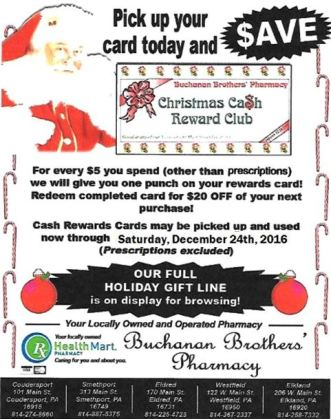 Buchanan's Christmas Cash Reward Club