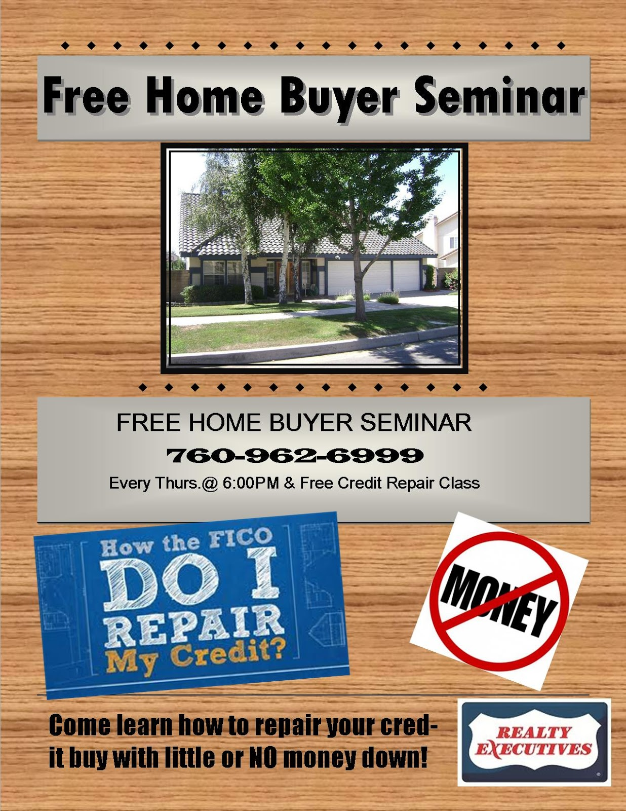 Real Estate Sales Update First Time Home Buyers Or Credit Repair - First time home buyer flyer template
