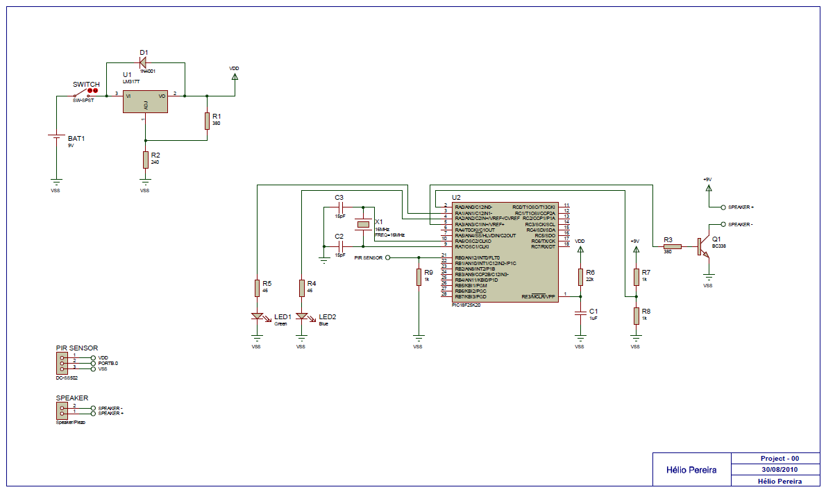 Pir Motion Sensor And Schematic Diagram Electronics Solution Sensors Circuit Using Integrated Pyroelectric