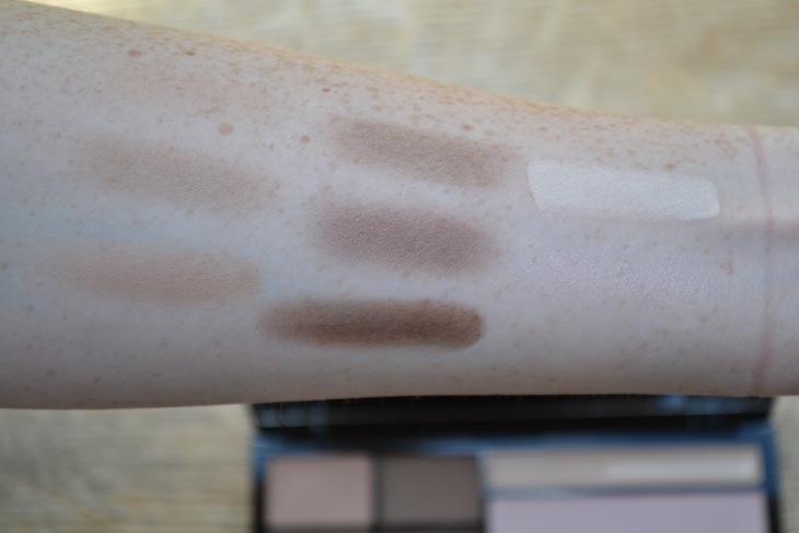 makeup revolution fair eyebrow palette swatches review