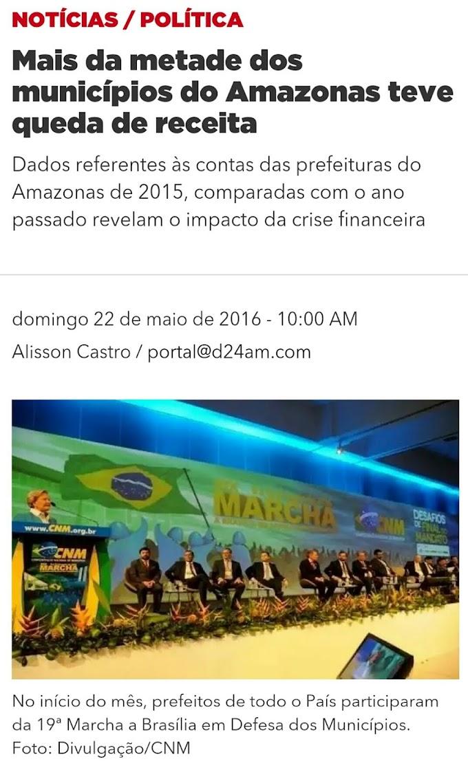 Coari foi o município do Amazonas que mais perdeu receita
