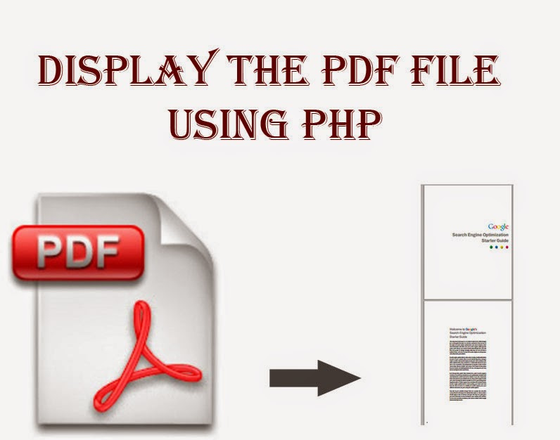 Display the PDF file using PHP