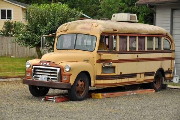Restoration Project Cars: 1954 GMC School Bus Project